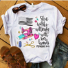 She Works Willingly With Her Hands Proverbs T-Shirt - ATMTEE