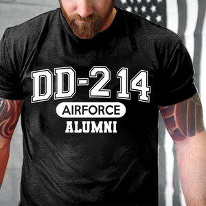 DD-214 Air Force Alumni, USAF Veterans T-Shirt - ATMTEE