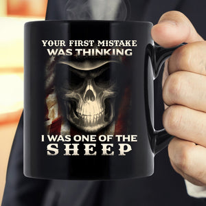 Veteran Mug, Your First Mistake Was Thinking I Was One Of The Sheep Mug