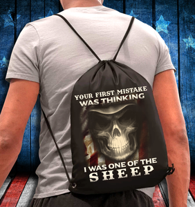 Your First Mistake Was Thinking I Was One Of The Sheep Drawstring Bag - ATMTEE
