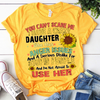 You Can't Scare Me I Have A Crazy Daughter She Has Anger Issues  T-Shirt - ATMTEE