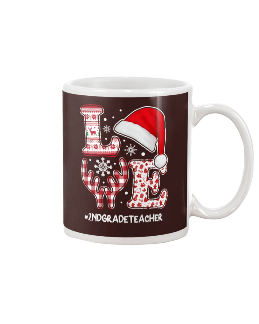 2nd Grade Teacher Love White Mug - ATMTEE