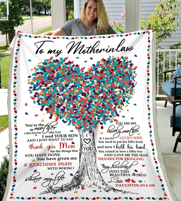 Personalized Blanket To My Mother In Law, You're The Mother I Receive The Day Fleece Blanket - ATMTEE