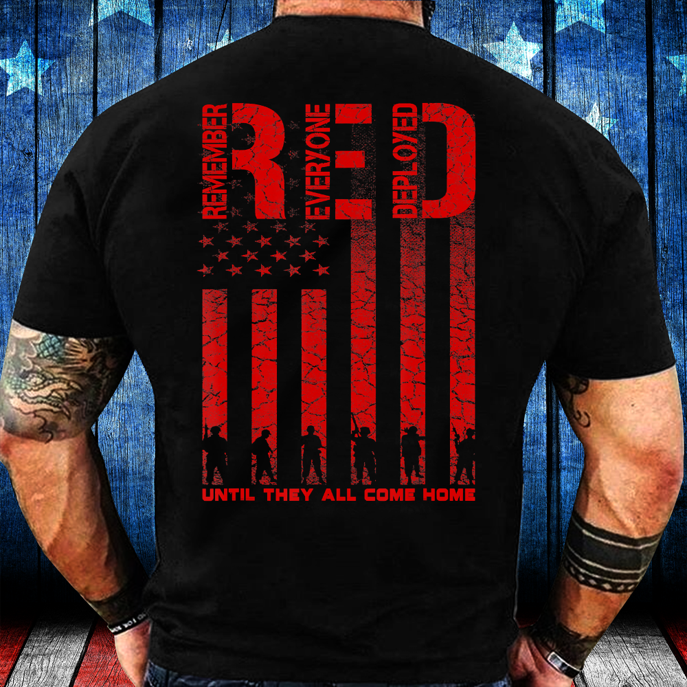 Red Friday Military Shirt, Veteran Deployed T-Shirt - ATMTEE