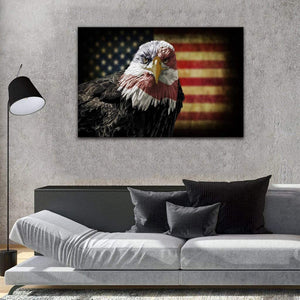 Eagle American Flag Canvas, Patriotic American, Gift For Veteran Matte Canvas - ATMTEE