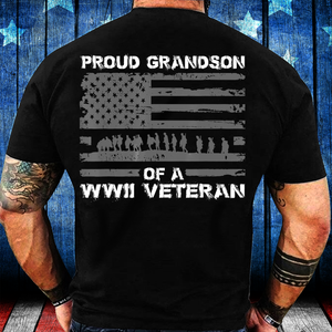 Proud Grandson Of A WWII Veteran T-Shirt - ATMTEE