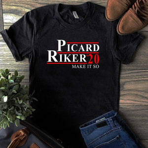 Picard Riker 20 Make It So T-Shirt - ATMTEE