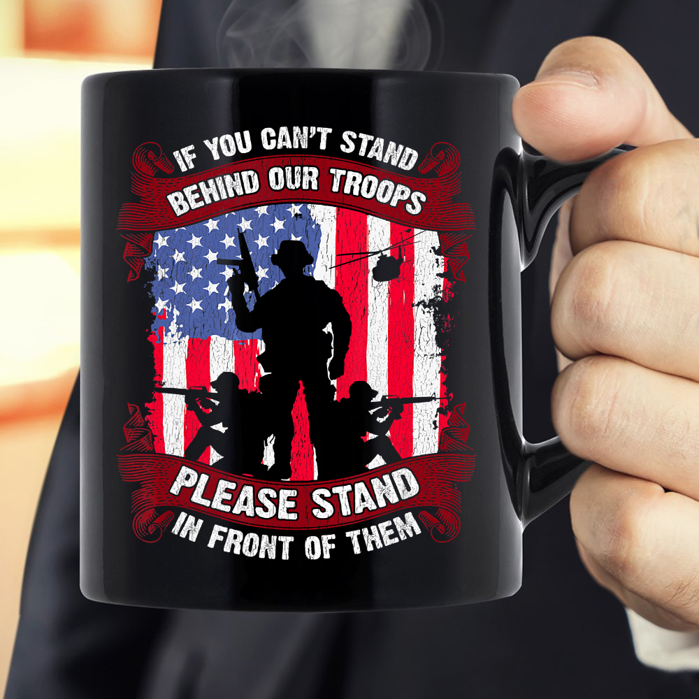 Military Veteran Soldier Troops American Flag Patriot Gift Mug - ATMTEE