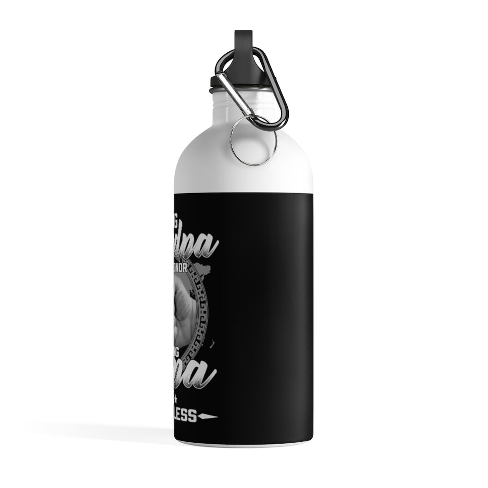 Being Grandpa Is An Honor Being Papa Is Priceless Stainless Steel Water Bottle - ATMTEE