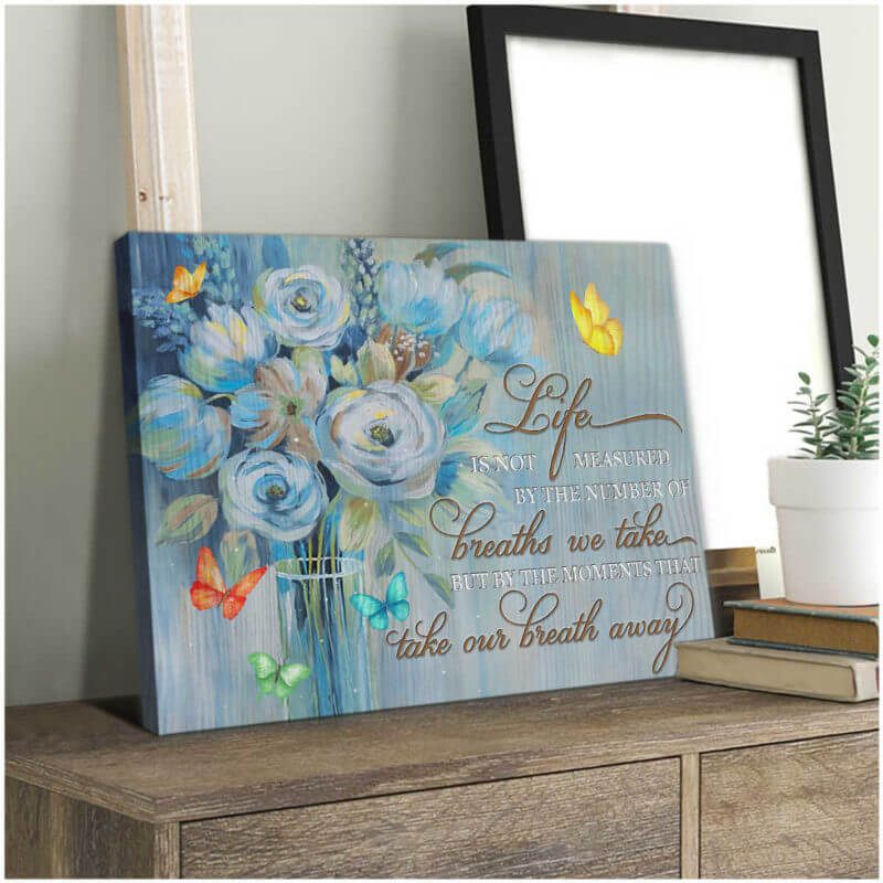 Butterfly Canvas Wall Art- Beautiful Butterfly Canvas The Moments That Take Our Breath Away Wall Art Decor Canvas - ATMTEE