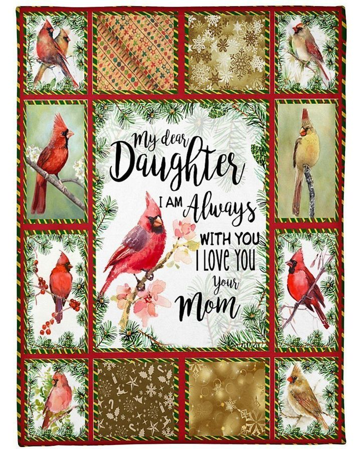 Cardinal Bird To Daughter I'm Always With You Fleece Blanket, Gift For Cardinal Bird Love Fleece Blanket - ATMTEE