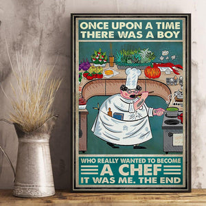 Chef Once Upon A Time There Was A Boy Matte Canvas