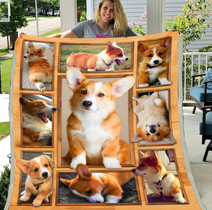 Corgi Blanket 3D Dog Blanket, For Corgi Lover Sherpa Blanket - ATMTEE
