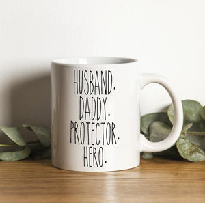 Father's Day Gifts Idea Mug, Gifts For Dad, Dad Gift, Husband Daddy Protector Hero Mug - ATMTEE
