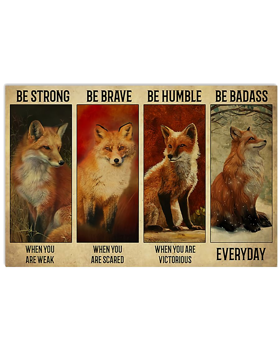 Fox Canvas Fox Wall Art, Best Gift For Fox Lovers, Fox Be Strong Be Brave Canvas - ATMTEE