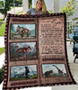 Gift For Son - To My Son - My Son Forever - Dinosaur Fleece Blanket - ATMTEE