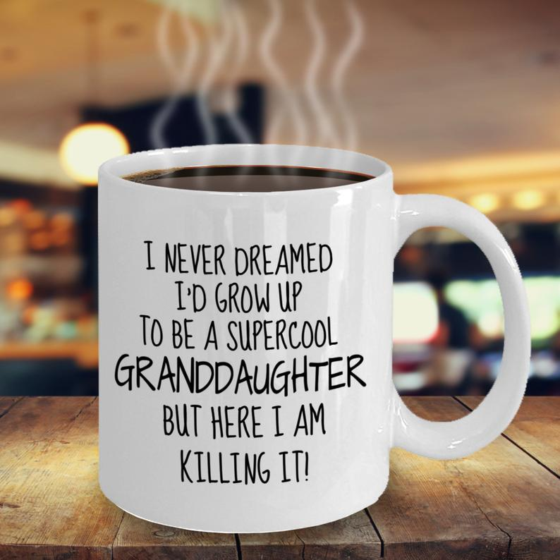 Personalized Mug, Thanks For Being My Granddaughter, Gift For Granddaughter Mug - ATMTEE