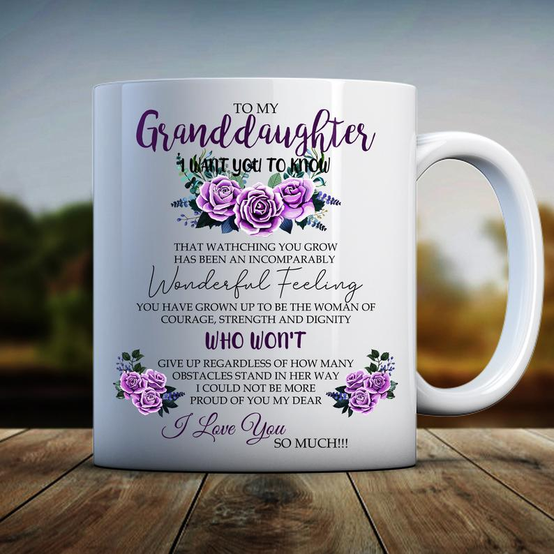 Granddaughter Gifts, Funny Granddaughter Gift, Granddaughter Mug, To My Granddaughter I Want You To Know Mug - ATMTEE
