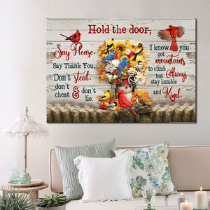 Hold The Door, Say Please Cardinal Bird Matte Canvas - ATMTEE