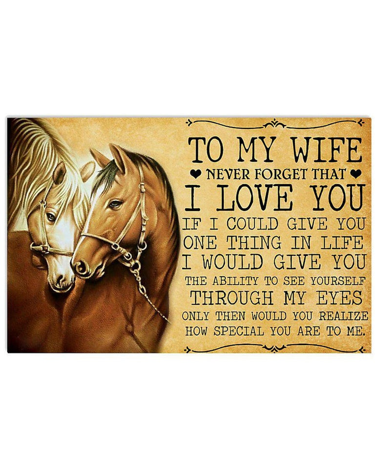 Horse Girl Canvas, Horse To My Wife Never Forget That I Love You From Husband, Valentine's Day Gifts Canvas - ATMTEE
