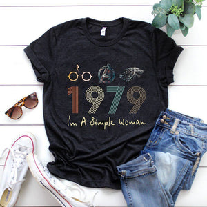 Vintage 1979, I'm A Simple Woman, Birthday Gifts Idea, Gift For Her For Him Unisex T-Shirt KM0804 - ATMTEE