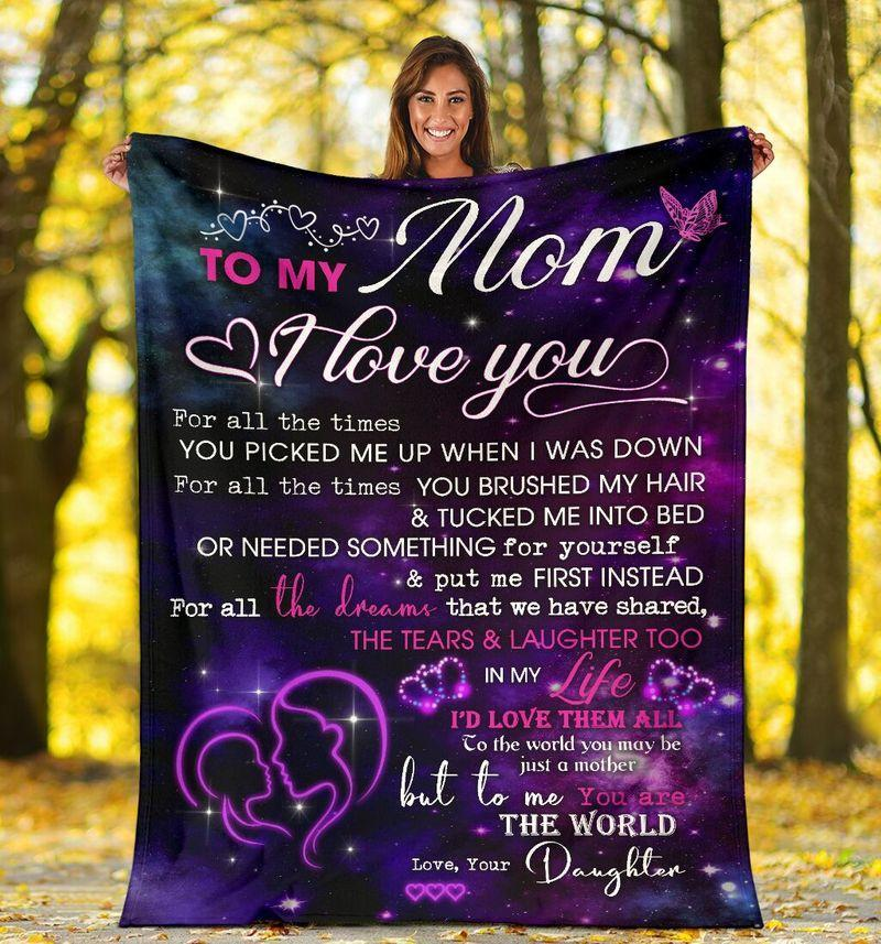 Mother Blanket To My Mom I Love You For All The Times You Picked Purple Fleece Blanket, Gift From Daughter - ATMTEE