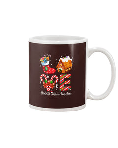 Middle School Teacher Christmas White Mug - ATMTEE