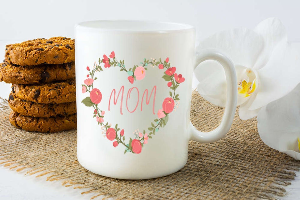 Mother's Day Coffee Mug – Floral Mug For Mom – Motivational Cup – I Love Mom Mug- Mother's Day Gift, Birthday Gift - ATMTEE