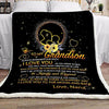 Nana To Grandson, Always Remember How Much I Love You Fleece Blanket Gift For Grandson Fleece Blanket - ATMTEE