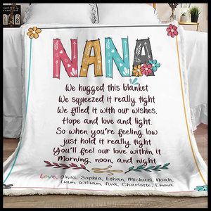 Nana You'll Feel Our Love Within It Love By Grandkids Name Sherpa Blanket - ATMTEE