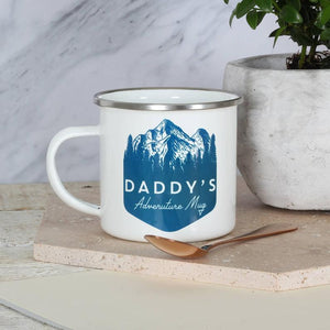 Personalized Mountain Enamel Mug, Travel Camping Coffee Mug Campfire Mug, Father's Day Gifts, Gift For Dad Campfire Mug - ATMTEE