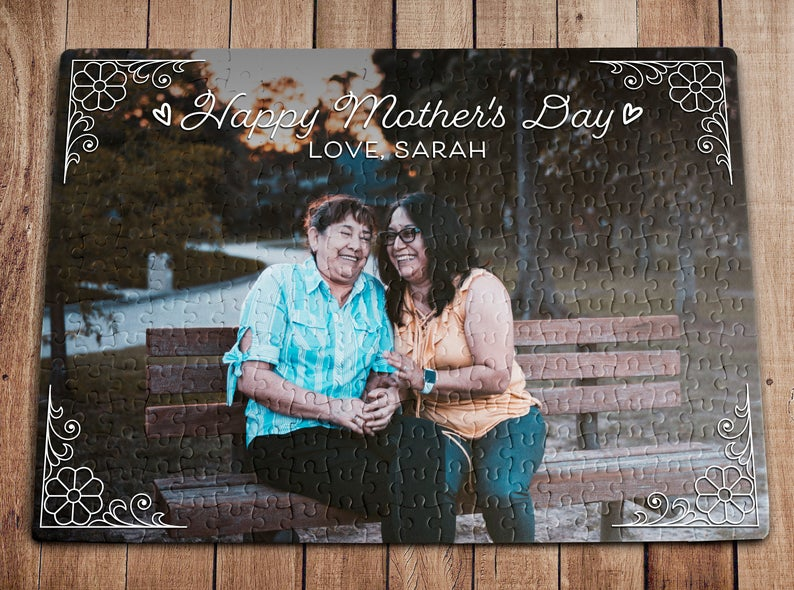 Personalized Puzzle, Mother's Day Gift, Gift For Mothers Day, Best Mom Ever, Happy Mother's Day, Gift For Mom Puzzle - ATMTEE