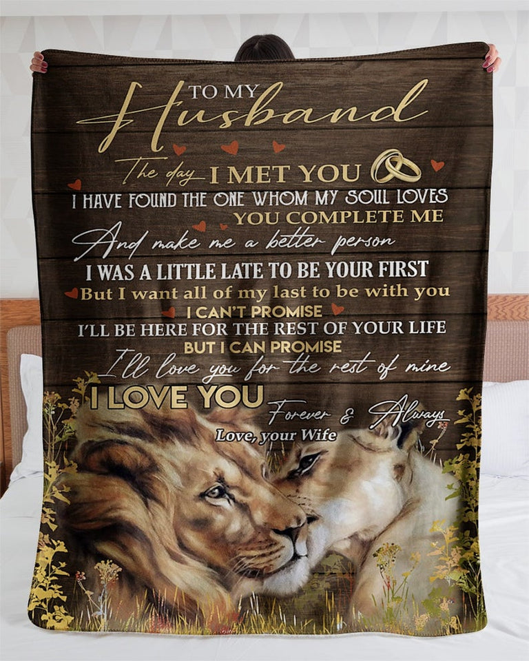 Personalized To My Husband I Love You Your Wife, Valentine's Day Gifts, Gifts For Husband, Gifts For Him Fleece Blanket - ATMTEE