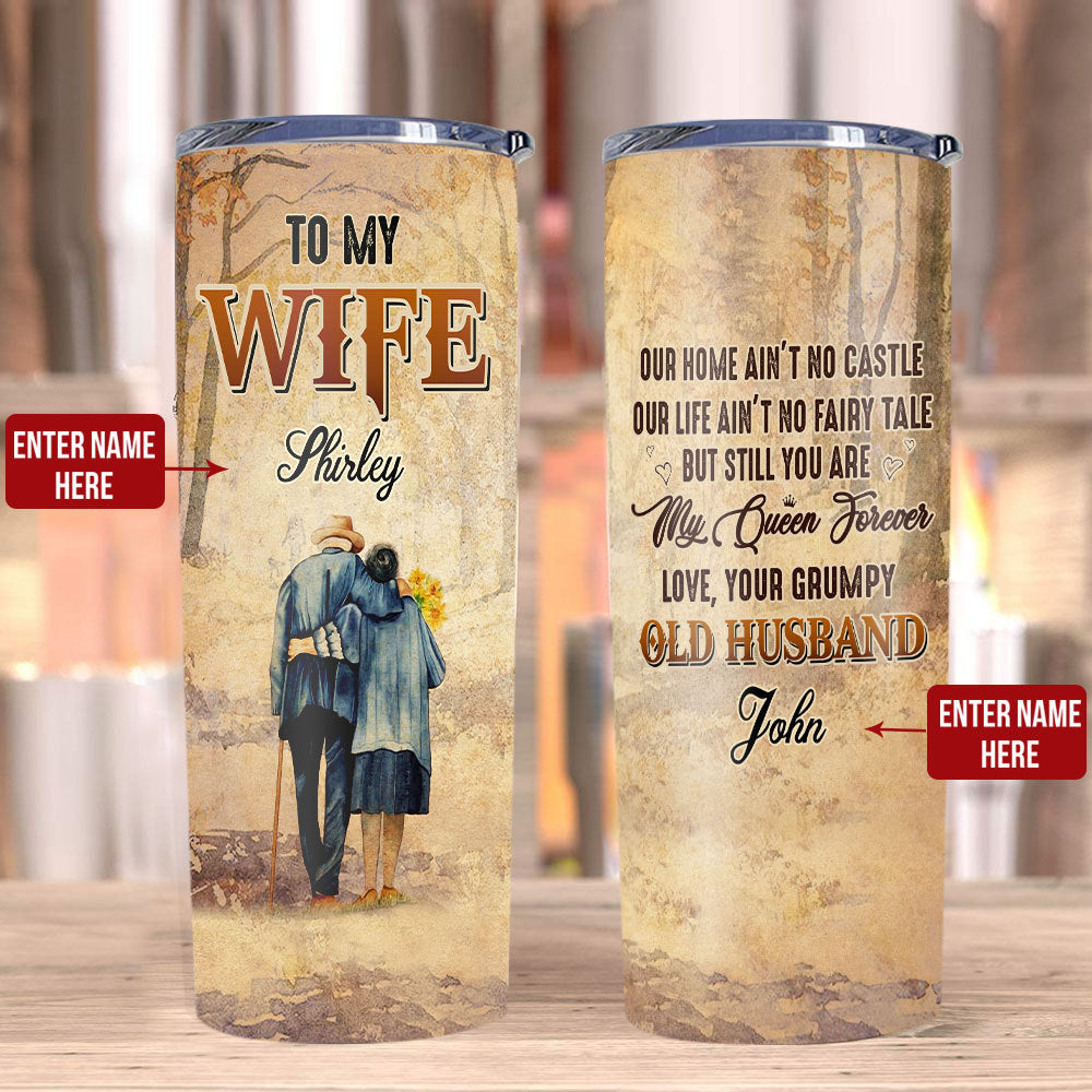 Personalized To My Wife Tumbler, Custom Tumbler, Gifts For Wife, Gifts For Her Stainless Steel Tumbler - ATMTEE