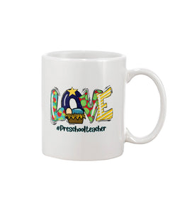 Preschool Teacher - Christmas White Mug - ATMTEE