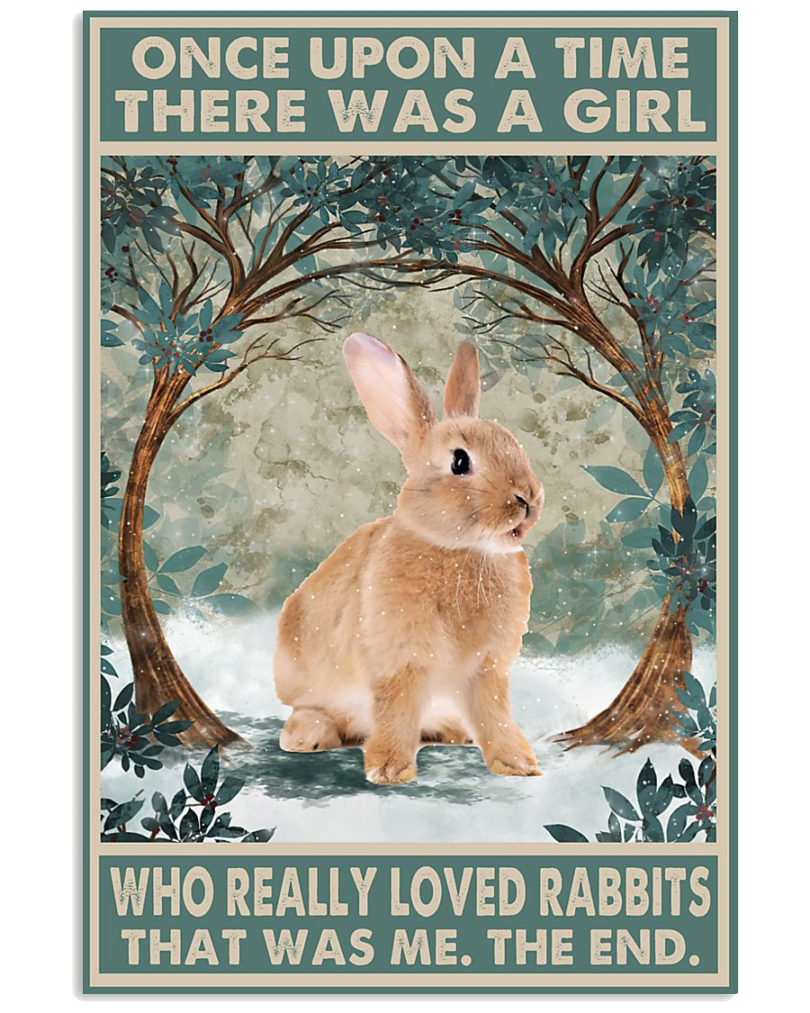 Rabbit Canvas Rabbit Wall Art Once Upon A Time There Was A Girl Who Really Loves Rabbits Canvas - ATMTEE