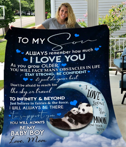 Personalized Blanket To My Son Always Remember How Much I Love You As You Grow Older, Gift For Son Fleece Blanket - ATMTEE