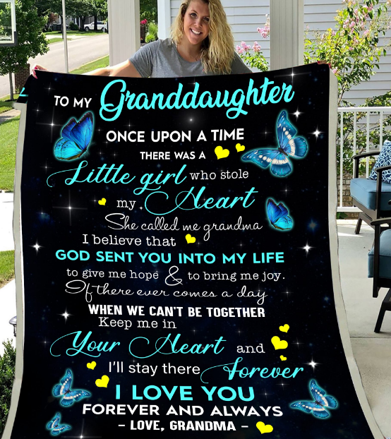 Personalized To My Granddaughter Once Upon A Time There Was A Little Girl, I Love You, Gift For Granddaughter Fleece Blanket - ATMTEE