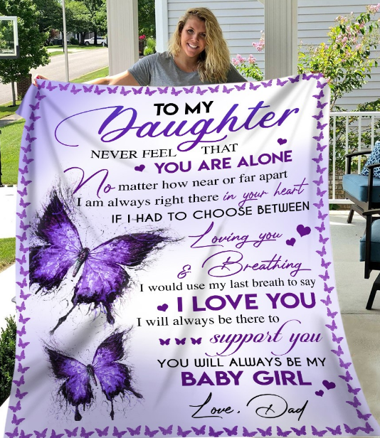 Personalized Blanket To My Daughter Never Feel That You Are Alone No Matter How Near Or Far Apart Fleece Blanket - ATMTEE