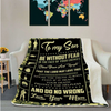 Veteran Blanket Personalized To My Son Be Without Fear In The Face Of Your Enemies Stand Brave ATM-USBL84 Fleece Blanket - ATMTEE