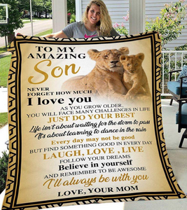 Personalize Blanket To My Amazing Son Never Forget How Much I Love You As You Grow Older Fleece Blanket - ATMTEE