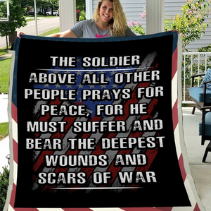 Veteran Blanket - Soldier, Blanket For Veteran, Us Veteran, Veteran ATM-USBL32 Fleece Blanket - ATMTEE