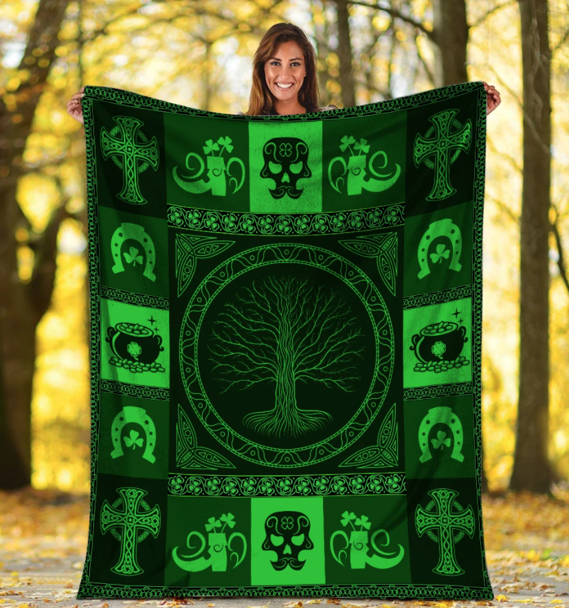 Patrick's Day, Gift For Patrick's Day Fleece Blanket - ATMTEE