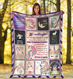 To My Granddaughter Don't Let Anyone Take You For Granted, Gift For Granddaughter Fleece Blanket - ATMTEE