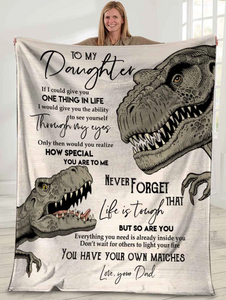 Personalized Blanket To My Daughter If I Could Give You One Thing In Life, You Have Your Own Matches Fleece Blanket - ATMTEE