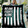 PTSD Blanket - PTSD, Warrior, Us Veteran, Quotes Blanket, Veteran ATM-PTSDBl03 Fleece Blanket - ATMTEE