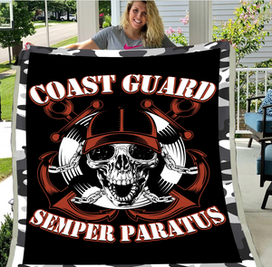 Coast Guard Veteran - Veteran Blanket, Coast Guard, Us Veteran, Quotes Blanket ATM-CGBL3 Fleece Blanket - ATMTEE