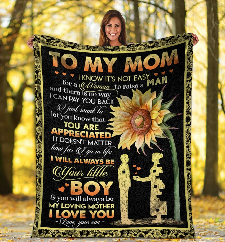 Personalized Blanket To My Mom I Know It's Not Easy, Gift For Mom Mother Fleece Blanket - ATMTEE