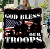 Veteran Blanket - Warrior, Blanket For Veteran, Us Veteran, Patriot, Quotes Blanket, Veteran ATM-USBl06 Fleece Blanket - ATMTEE