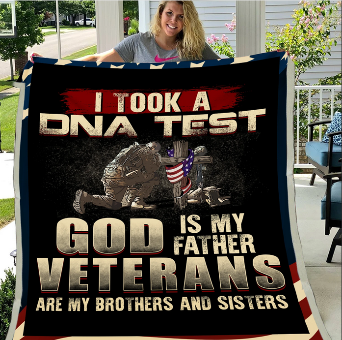 Veteran Blanket - Warrior, Soldier, Blanket For Veteran, Us Veteran, Quotes Blanket, Veteran ATM-USBl20 Fleece Blanket - ATMTEE